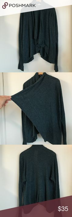 Heather blue cardigan Rayon and polyester knit, free flowing cover up. Like new Urban Outfitters Sweaters Cardigans