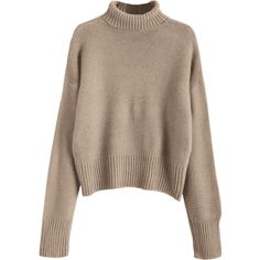 Turtleneck Sweater Camel (169120 PYG) ❤ liked on Polyvore featuring tops, sweaters, brown sweater, turtle neck top, camel sweater, camel top and turtleneck sweaters
