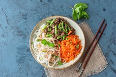 Vietnamese beef and sweet chilli noodles