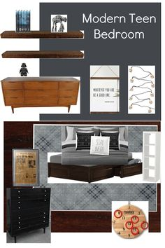 Modern teen boy bedroom plans - Cassie Bustamante #boyroom #teenroom #teenbedroom #boybedroom