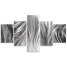 Metal Art Studio 'Columnar Plumage' by Nate Halley 5 Piece Graphic Art Set Modern Metal Wall Art, Metal Tree Wall Art, Metal Artwork, Contemporary Artwork, Contemporary Style, Tree Artwork, Modern Wall Sculptures, Graphic Art, Art Gallery