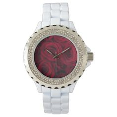 THE KINGDOM OF THE ROSE -Red Roses- Wrist Watch - diy cyo customize create your own personalize