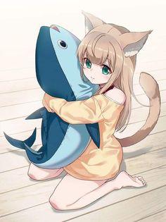 Anime Neko, Lolis Neko, Cute Anime Chibi, Anime Furry, Cute Anime Pics, Anime Wolf Girl, Manga Anime Girl, Cool Anime Girl, Anime Girl Drawings