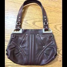 Purse Beautiful Brown Leather Shoulder purse! b. makowsky Bags