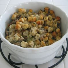 Slow Cooker Stuffing Recipe | Allrecipes Stuffing Recipes, Turkey Recipes, Dog Food Recipes, Chicken Recipes, Cooking Recipes, Cooking Ideas, Slow Cooker Tomato Soup, Slow Cooker Chicken, Thanksgiving Side Dishes