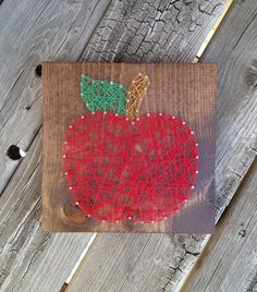 Made to Order String Art Sign Apple Sign by BlossomingBurlap