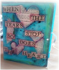 Junk Book When the Tears. Sims 2 House, Junk Journal, Lunch Box, Etsy, Books, Handmade, Inspiration, Journals, Handmade Books