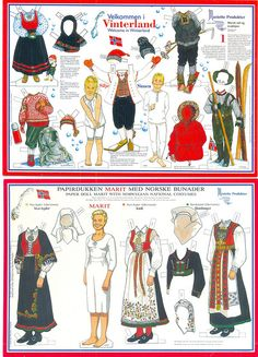 Paper doll Silje and Marit no.2 by minnasusanne, via Flickr