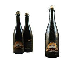 Waroux - Pack shot avant + arrière + bouteille seule