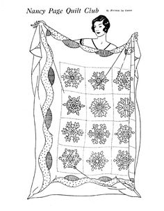 pattern for vintage embroidered snowflake quilt