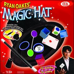 POOF-Slinky Ideal Ryan Oakes Collapsible Magic Hat Set with Magic Wand and Secrets of Amazing Magic Tricks Booklet. Recommended for children of age and older Amazing Magic Tricks, Magic Tricks For Kids, Magic Tricks Illusions, Slinky Toy, Magic Sets, Ideal Toys, Card Tricks, Magic Cards, Age