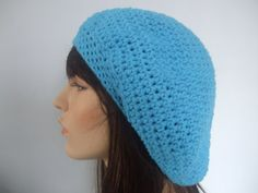 Cotton Slouch Tam Hat Snood Beret  Teens Men or by yarnnscents, $15.00