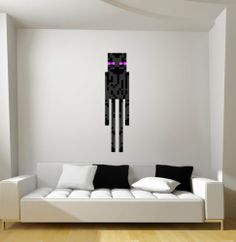 Minecraft Enderman Fathead Style Repositionable Graphic Decal Sticker Great Gift | eBay
