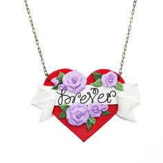 Forevever Tattoo Art Heart Necklace
