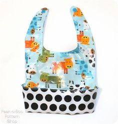 The Ultimate Baby Bib Pattern is Uniquely Designed to Catch All Food While Being Easy to Wipe Clean