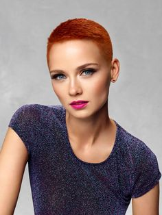 Revlon Professional® presents Redvolution Edgy Short Hair, Short Hair Cuts, Short Hair Styles, Revlon Professional, Cheveux Courts Funky, Shaved Hair Cuts, Short Pixie Haircuts, Professional Hairstyles, Hairstyles With Bangs