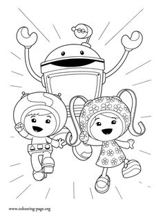 How about follow the Team Umizoomi on another adventure? Just print and have fun with this beautiful coloring page!