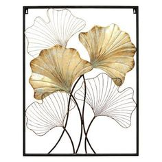Stratton Home Decor Palm Branch Panel Wall Decor X X Multi (Metal) Gold Leaf Art, Visual Texture, Panel Wall Art, Art Plastique, Cool Walls, Framed Artwork, Wall Decor, Home Decor, Interior