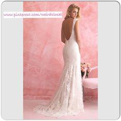 Prachtige bruidsjurk van kant met open rug trouwjurk op maat