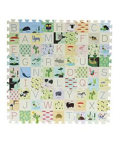 Loving this ABC Animal Friend Playmat by Time Concept, Inc. on #zulily! #zulilyfinds