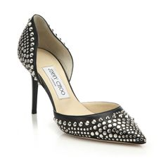 Jimmy Choo Addison Studded Leather Pumps