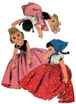 Vintage 1940s Pattern ~ Upside Down Topsy Turvy Cloth Doll /& BONUS Doll w// Legs