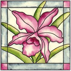 Stained Glass Orchid Cling Stampbr(Click to see card samples)