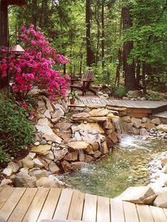 An Outdoor Oasis, Waterfalls