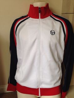sergio tacchini track top retro tennis #80s football casuals size medium new from $71.26