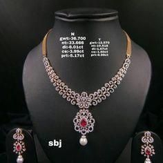 Light weight diamond necklace sets from Sri Balaji Jewellers. 22 November 2019 Light weight diamond necklace sets from Sri Balaji Jewellers. Antique Jewellery Designs, Gold Jewellery Design, Diamond Necklace Set, Gold Necklace, Diamond Jewelry, Golden Jewelry, High Jewelry, 22 November, Jewelry Gifts