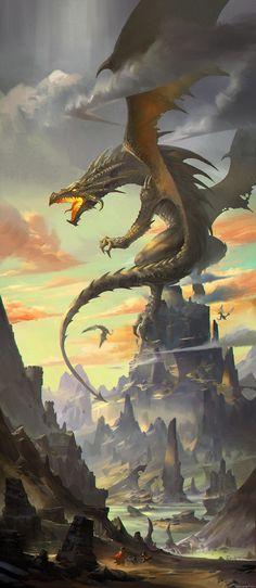 foto : angry dragon on mountain