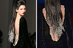 The Daily Do | Long Locks Woven with Pearls at Jean-Paul Gaultier