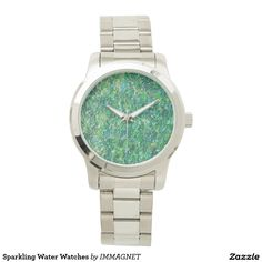 Sparkling Water - Unisex Oversized Silver Watch