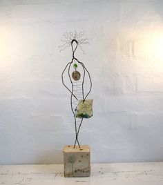 Wire Sculpture  Love Earth  Eco Friendly Driftwood by idestudiet, $94.00
