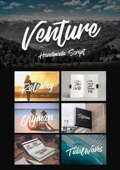 Venture - Handmade Font Script by Micromove. Get it on MarketMe (@AgenceMe_Market)