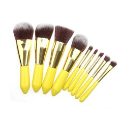 2017 hot sale 9Pcs Wood Handle Makeup Eyeshadow Foundation Brush Set Concealer Cosmetic Pro Kabuki Blush makeup brushes