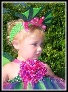 FAIRYTALE DRAGON Tutu Dress in Shades of Green by goodygoodytutus