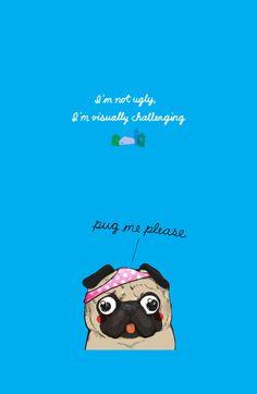 Pug me please! Art Print