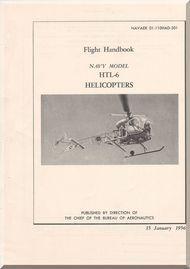 Bell Helicopter HTL-6 Flight  Handbook Manual