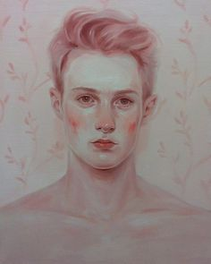 """a-style-of-man: """" Kris Knight Soft Pink 2013 Oil on Canvas 16x20"""" """""""
