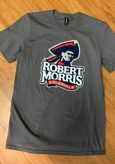 Robert Morris Colonials Charcoal Primary Logo Distressed Short Sleeve T Shirt - 22785445 Short Sleeve Tee, Long Sleeve, Distressed Shorts, Pittsburgh, Colonial, Charcoal, Logos, Tees, Mens Tops