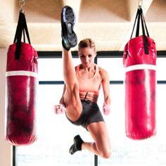 Kickboxing/Ballet workout - two of my favorite things,..workout mashup