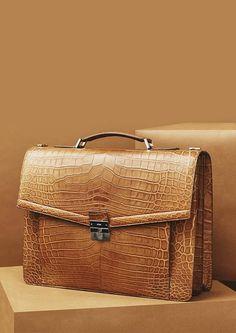 Men's Genuine Alligator Skin Leather Business Briefcase Bag,Laptop Bags,Business bags