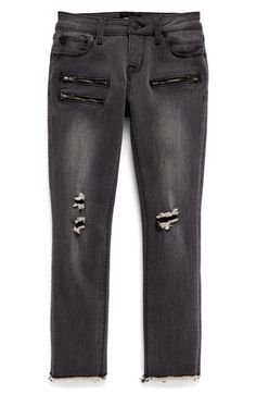 Hudson Kids 'Taylor Moto' Skinny Jeans (Big Girls)
