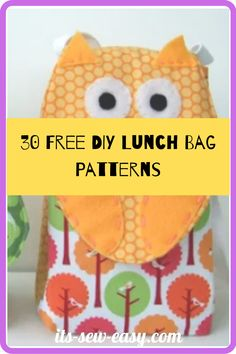 Thinking of getting a lunch bag? Here are 30 free designs pick one or two or many that work for you! #bagpatterns #freesewingpatterns #sewingpatterns #lunchbagpatterns Bag Patterns, Sewing Patterns Free, Insulated Lunch Bags, Snack Bags, Wrap Sandwiches, Pattern Making, Free Design, Lunch Box, Crafts