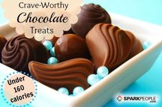 Next time you're hankering for chocolate, try one of these tempting treats. These options are low in calories and some even contain good-for-you vitamins, fiber and protein! via @SparkPeople