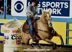 Hailey Kinsel takes Round 9 of the Barrel Racing in the 2017 National Finals Rodeo