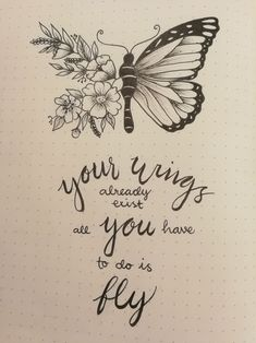 Bullet Journal Quotes, Bullet Journal 2019, Bullet Journal Writing, Bullet Journal Ideas Pages, Bullet Journal Inspiration, Brush Lettering Quotes, Hand Lettering Quotes, Doodle Quotes, Butterfly Quotes