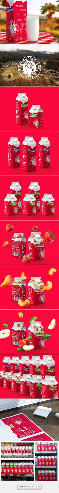 Radyvylivmilk Milk Packaging designed by Graphinya Design (Ukraine)