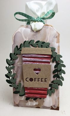 Homemade Cards by Erin: coffee tag, Holiday Coffee Lovers Blog Hop, take 2